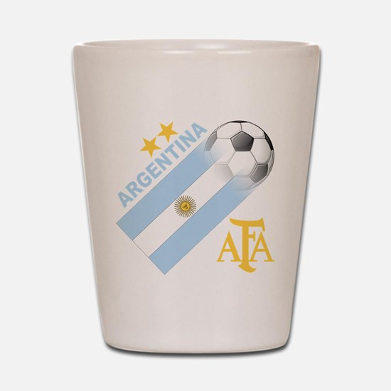 Argentina world cup soccer Shot Glass