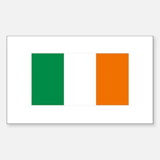 Irish Flag Sticker (Rectangle)