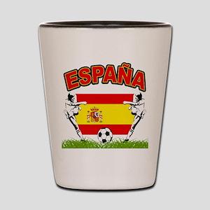 Spainish Soccer Shot Glass