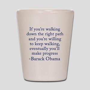 Progressive Obama Shot Glass