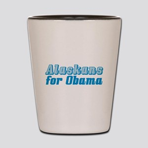 Alaskans for Obama Shot Glass