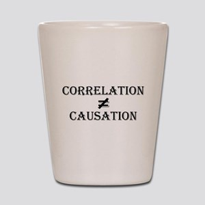 Correlation Causation Shot Glass