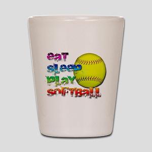 Eat sleep soft 2 Shot Glass
