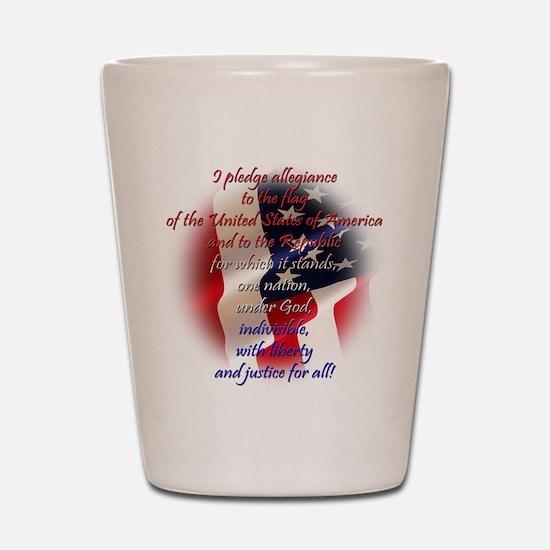 Pledge of allegiance Shot Glass