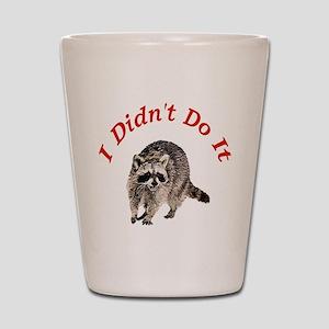 Raccoon Humorous Shot Glass