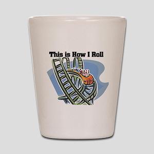 How I Roll (Roller Coaster) Shot Glass