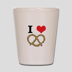 I Heart (Love) Pretzels Shot Glass
