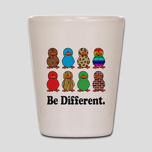 Be Different Ducks Shot Glass