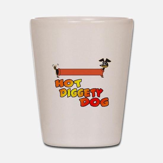 Hot Diggety Dog Daschund Shot Glass