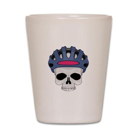 Cycling Skull Head Shot Glass