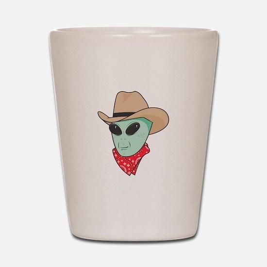 Cowboy Alien Shot Glass