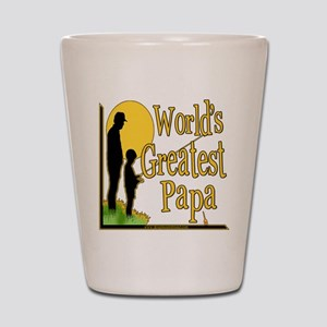 World's Greatest Papa Shot Glass
