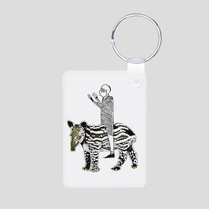 tapirRider Aluminum Photo Keychain