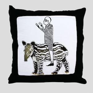 tapirRider Throw Pillow