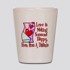 Love Is Making Shot Glass