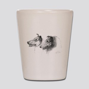 Rough & Smooth Collies Shot Glass