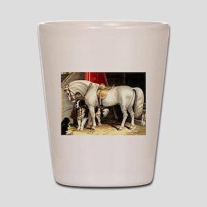 White Horse Shot Glass