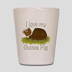 I Love my Guinea Pig Shot Glass