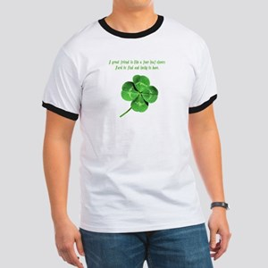 4 Leaf Clover Luck Ringer T