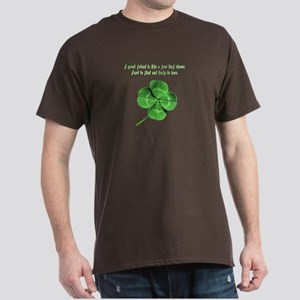 4 Leaf Clover Luck Dark T-Shirt