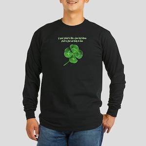 4 Leaf Clover Luck Long Sleeve Dark T-Shirt