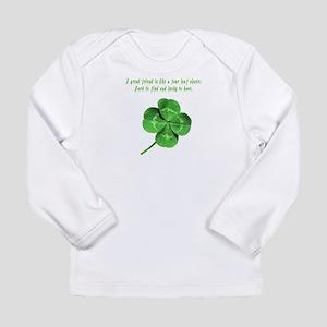 4 Leaf Clover Luck Long Sleeve Infant T-Shirt