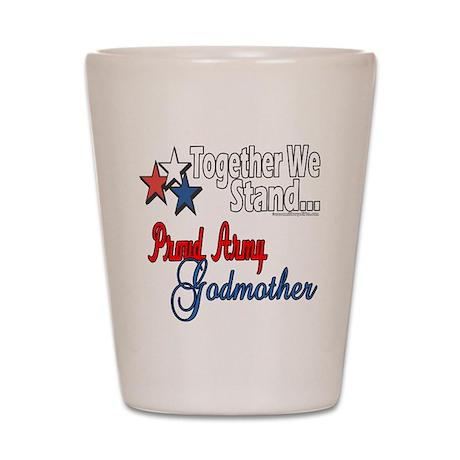 Army Godmother Shot Glass
