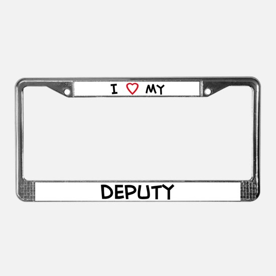 I Love Deputy License Plate Frame