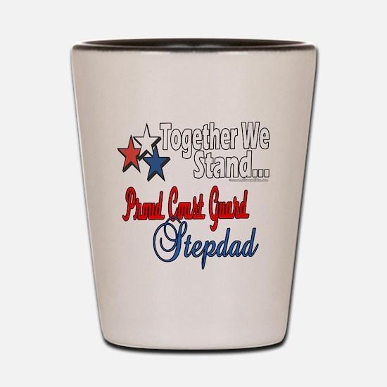 Coast Guard Stepdad Shot Glass