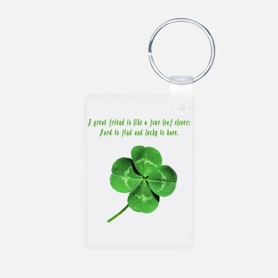 Unique Ireland Aluminum Photo Keychain