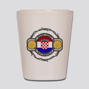 Croatia Water Polo Shot Glass