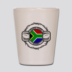 Hard Core South Africa Rugby Shot Glass