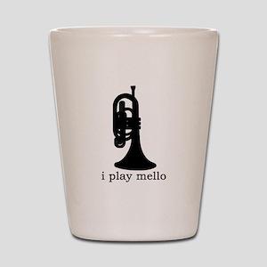 I Play Mello Shot Glass