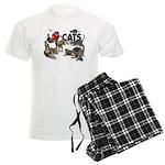 "Men's Light Pajamas ""I Love Cats"""