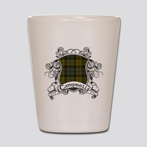 Campbell Tartan Shield Shot Glass