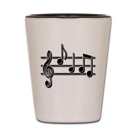 Musical Notes Shot Glass
