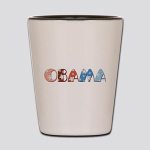 Starry 1920s Obama Shot Glass