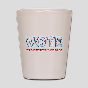 Patriotic Vote Shot Glass