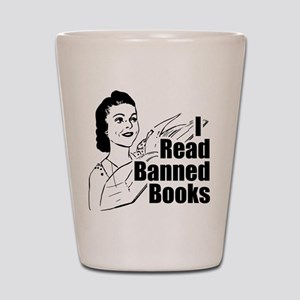 Read Banned Books Shot Glass