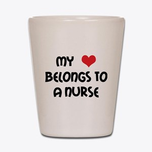 I Heart Nurses Shot Glass