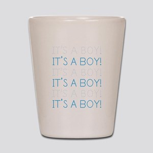 Blue It's a Boy Shot Glass