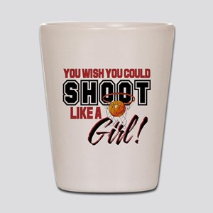Basketball - Shoot Like a Girl Shot Glass