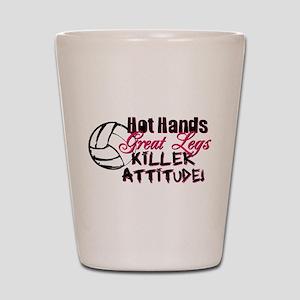 Hot Hands & Great Legs Shot Glass