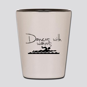 Dances with Waves Shot Glass