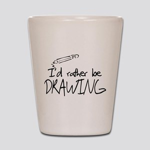 I'd Rather Be Drawing Shot Glass