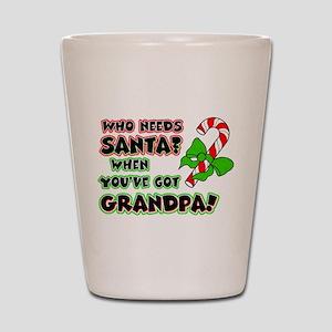 Santa? Grandpa! Shot Glass
