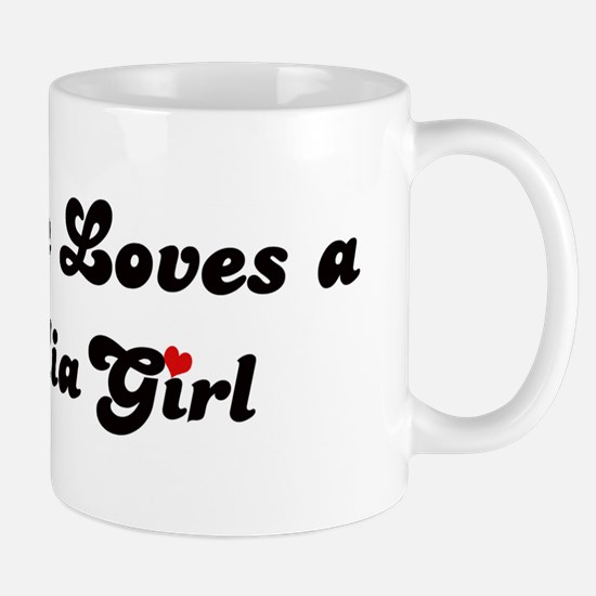 Loves Mongolia Girl Mug