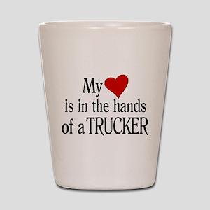 My Heart in the Hands Trucker Shot Glass