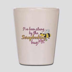 Scrapbooking Bug Shot Glass