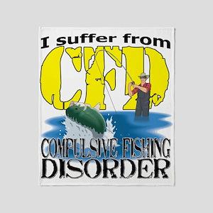 CFD - Compulsive Fishing Disorder Throw Blanket